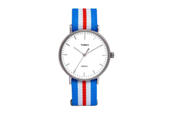 Timex Unisex Fairfield Watch (Orange/Blue)