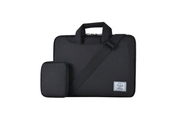 "Colour Pack Casual Series 15.6"" Notebook Laptop Multi-Style Carry Bag ( Black ) with extra small"