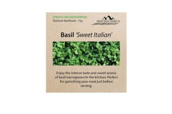 Perth Hills Veggie Co Microgreen Seeds Basil Sweet Italian