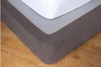 Apartmento Taupe Stretch Valance - King Bed