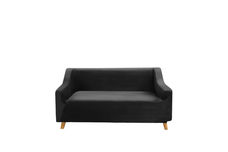 Couch High Stretch Sofa Lounge Cover Protector Recliner Slipcover 2 Seater Black