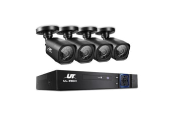 CCTV Security 4 Cameras 1080P HDMI 8CH DVR Video Home Outdoor IP System