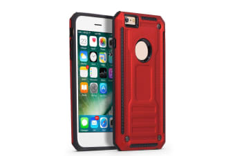 For iPhone 8 & 7 Case  Armour Strong Shockproof Thin Tough Phone Cover  Red