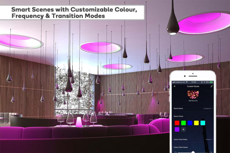 Kogan SmarterHome™10W RGB + CCT Colour & Warm/Cool White Smart Bulb (B22) - Pack of 4