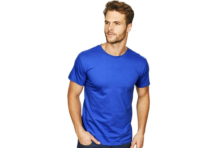 Casual Classics Mens Premium Ringspun Tee (Royal) (2XL)