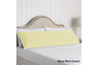 100% Cotton Body Pillowcase Maze Rich Cream by Artex