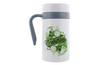 Deadly Detox Snakeroot Thermal Travel Mug With Handle (White)