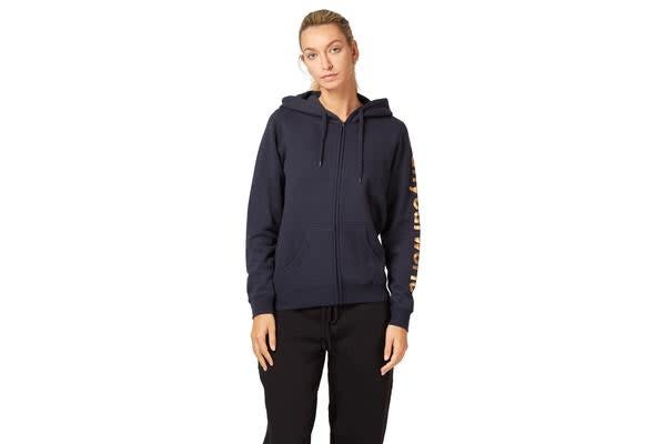 Saucony Run Your World Sleeve Zip Up Hooded Jacket (Navy, Size S)