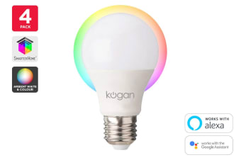 Kogan SmarterHome™ 10W Ambient Smart Bulb (E27) - Pack of 4