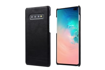 For Samsung Galaxy S10 PLUS Case  Black Elegant Genuine Leather Phone Cover