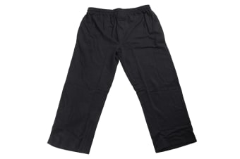 Redtag Sportswear Mens Elasticated Open Cuff Plus Size Jogging Bottoms (Charcoal) (3XL)