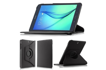 """Samsung Galaxy Tab A 7.0"""" Rotating 360 PU Leather Stand Case Smart Cover by MEZON (SM-T280, T285, Black)"""