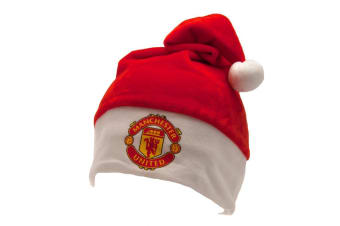 Manchester United FC Supersoft Santa Hat (Red)