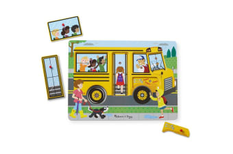 Melissa and Doug The Wheels on the Bus Sound Puzzle - 8 Pieces