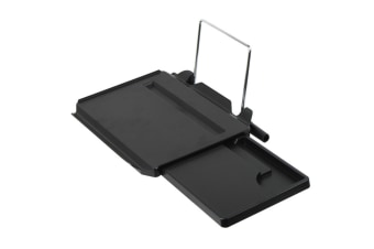 Drawer-Type Automotive Desk Computer Tray With Ipad Slot Black