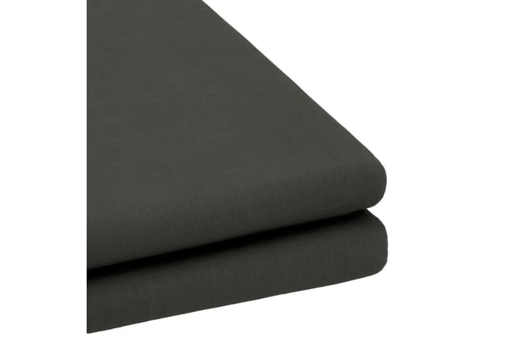 Bambury TRUFit Fitted Sheet - Wide Elastic - 50cm Deep - Charcoal - Queen