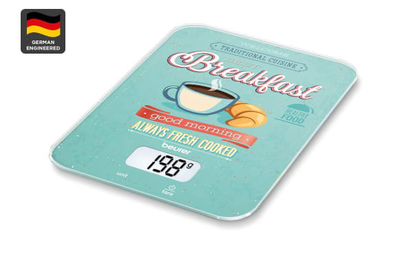 Beurer Digital Kitchen Scale - Breakfast Design (KS19)