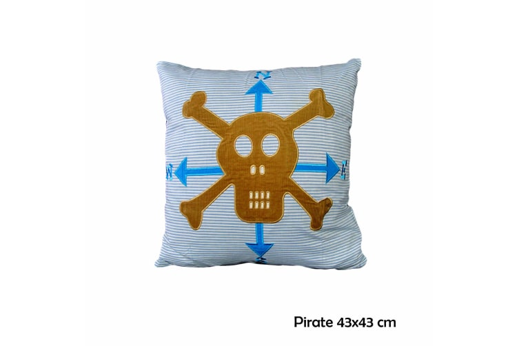 Pirate 43x43 cm Square Filled Cushion by Happy Kids