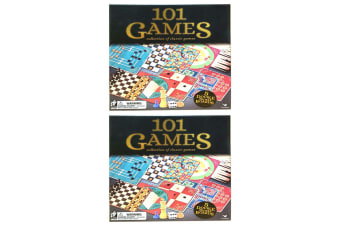 2PK Cardinal Classic Wooden 101 Games Chess/Checkers/Snakes & Ladders Set Family