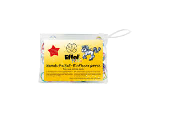 Effol Childrens/Kids Slickerbands Non-Snap Plaiting Bands (Coloured)