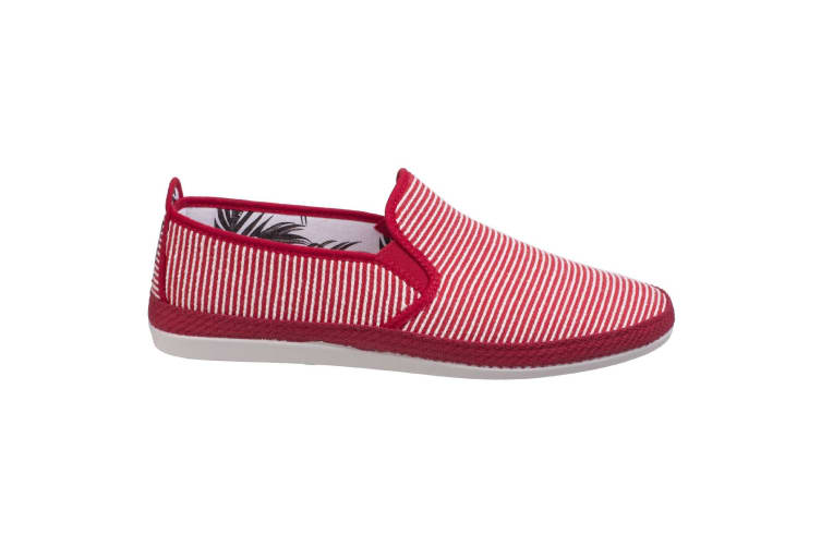 Flossy Mens Brieva Slip On Espadrille (Red) (9 UK)