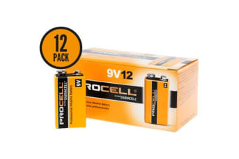 Duracell 9V 12 Pack Procell Battery