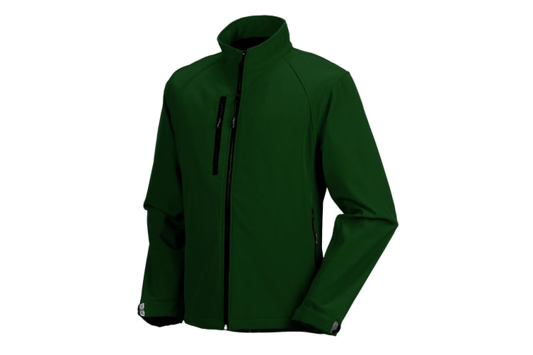 Russell Mens Water Resistant & Windproof Softshell Jacket (Bottle Green) (3XL)