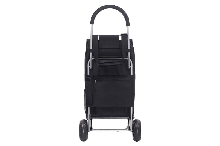 White Magic 3 in 1 40L Shopping Hand Trolley Dolly Carry Bag Foldable Cart Black