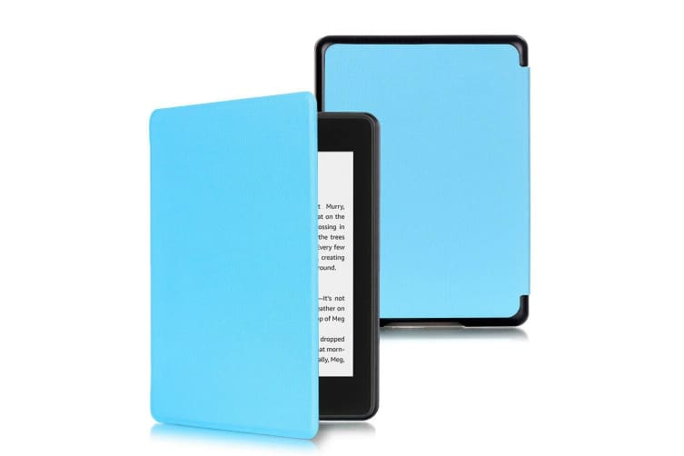Magnetic Cover Protective Shell Smart Case For All-new Kindle 10th Gen 2019-Brown-Light Blue