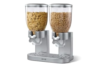 Zevro The Original Indispensable Cereal Dispenser Double - Silver
