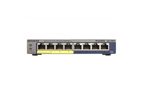 Netgear ProSafe 8 Port Gigabit Switch with 4 Port PoE (GS108PE-300AJS)