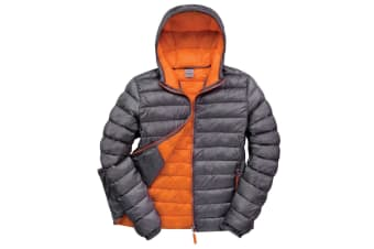 Result Urban Mens Snowbird Hooded Jacket (Grey/Orange) (XL)