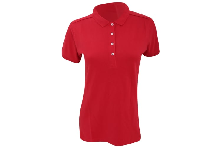 Russell Womens/Ladies Stretch Short Sleeve Polo Shirt (Classic Red) (XS)