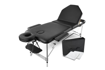 HPF Black Portable Folding Massage Table