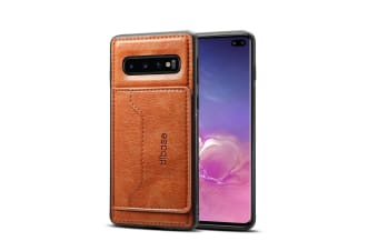 For Samsung Galaxy S10+ Plus Case  Brown Horse Texture PU Leather Wallet Cover