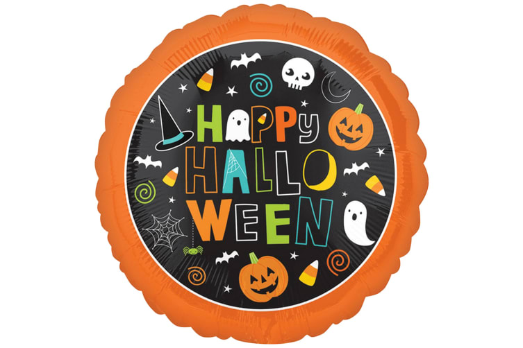Anagram 18 Inch Halloween Circle Foil Balloon (Happy Halloween) (One Size)