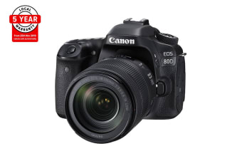 Canon EOS 80D DSLR Camera with EFS18-135mm IS USM Lens - Pre-owned