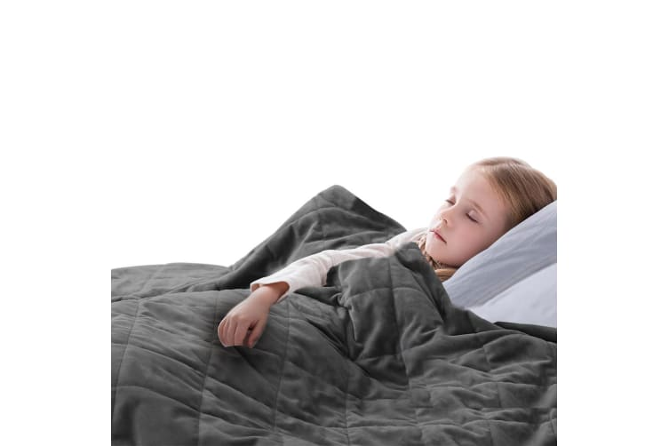 DreamZ 2KG Kids Anti Anxiety Weighted Blanket Gravity Blankets Grey Colour