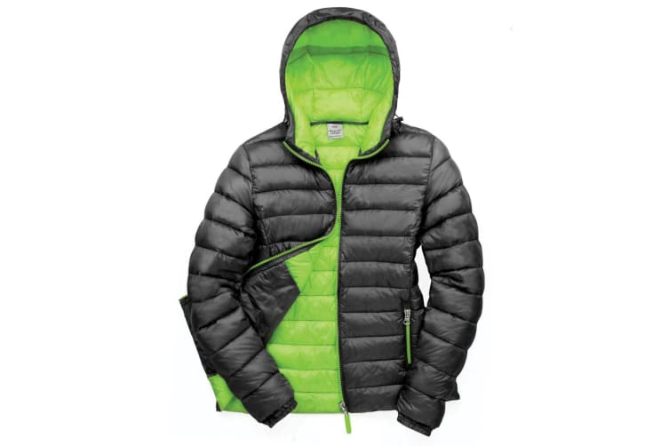 Result Urban Womens/Ladies Snowbird Hooded Jacket (Black/Lime Green) (XS)