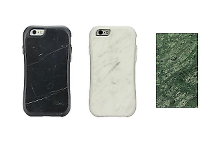 For iPhone 6 6S Case Black Plated Marble Customized Case
