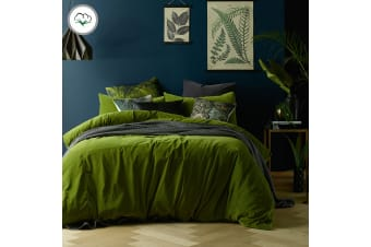 Cotton Velvet Quilt Cover Set Mossy Road King