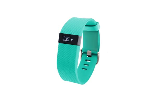 Fitbit Charge HR Heart Rate + Activity Wristband (Large, Teal)