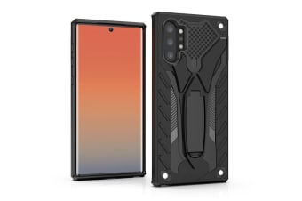 For Samsung Galaxy Note 10+ Plus Case Black Armour PC+TPU Tough Armor Back Shell