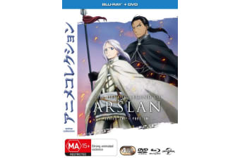 The Heroic Legend of Arslan Episodes 1-13 with DVD Double Play Blu-ray Region 4