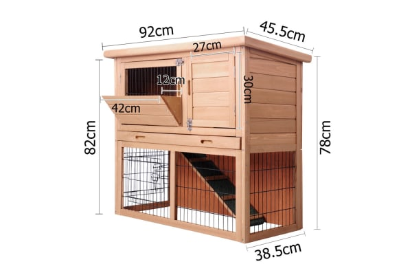 Small Pet House with 2 Storeys Run