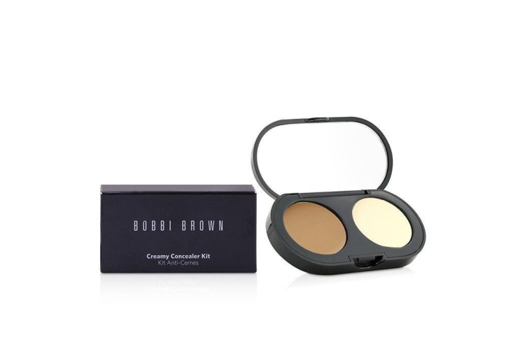 Bobbi Brown New Creamy Concealer Kit - Golden Creamy Concealer + Pale Yellow Sheer Finish Pressed Powder 3.1g