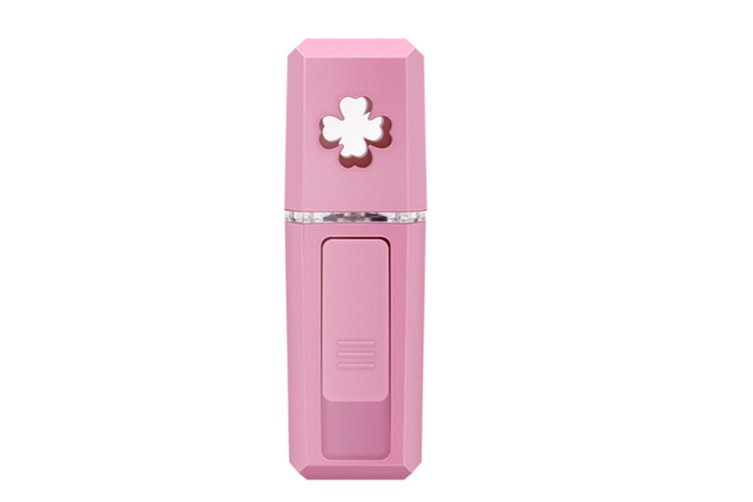 Select Mall Portable Cold Spray Water Meter USB Nano Large Spray Instrument Moisturizing Steam Face Humidifier-Pink