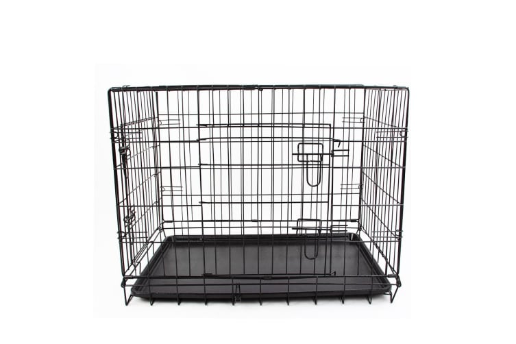 """36"""" Folding Dog Crate with Double Doors"""