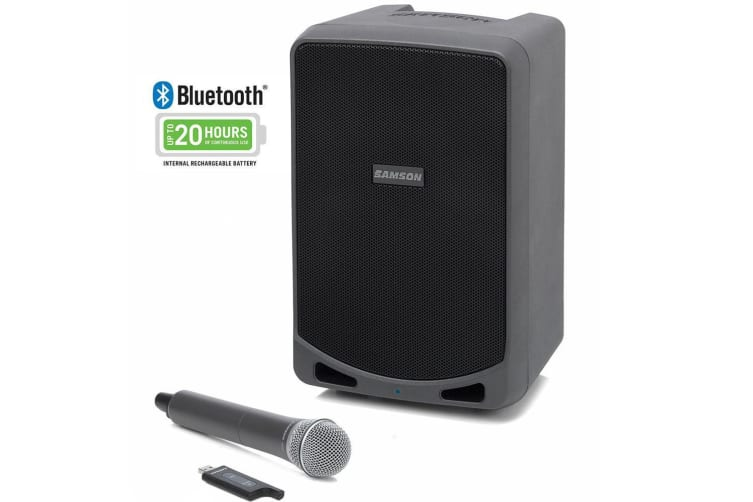 Samson Expedition XP106w PA/Amp 20hrs Bluetooth Wireless Speaker System & Mic