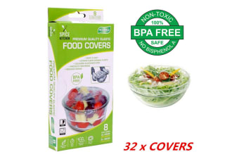 32pcs Reusable Transparent Plastic Elastic Food Cover Covers